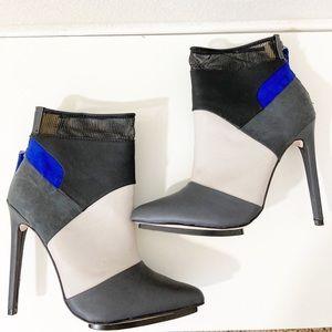 GX Gwen Stefani Kanayo Colorblock Booties Ankle